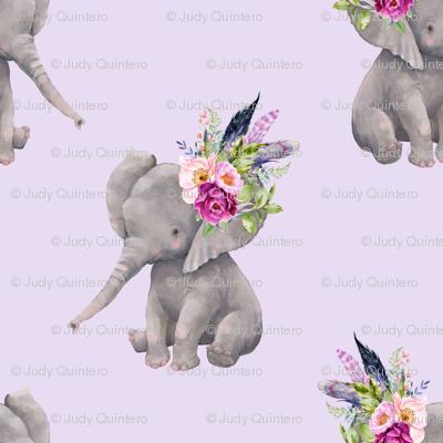"""14"""" Boho Lilac Elephant - Lilac"""