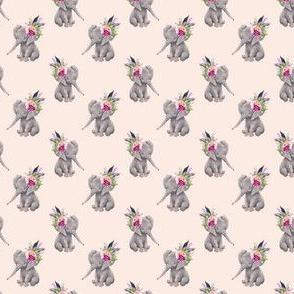 """1.5"""" Boho Lilac Elephant - Peach"""