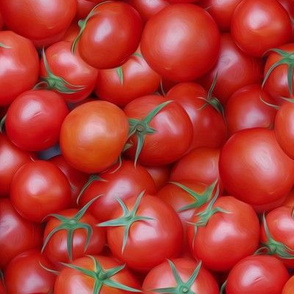 ripe tomatoes - painting effect