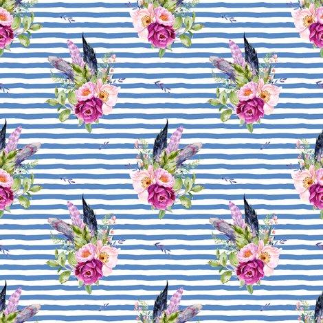 Rlilacbohemianfloralswithfeathersdarkbluestripes_shop_preview