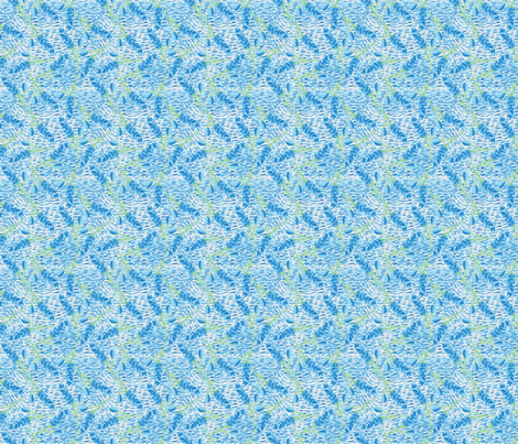 blue flower-01 fabric by selinahudsondesigns on Spoonflower - custom fabric