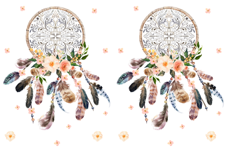 """27"""" x 36"""" No Quote - Dream Big Little One Dream Catcher  fabric by shopcabin on Spoonflower - custom fabric"""