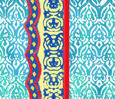 Distressed Marrakesh fabric by inkysunshine on Spoonflower - custom fabric