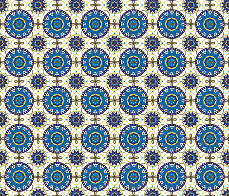 Moroccan Tile fabric by eastcoastcharm on Spoonflower - custom fabric