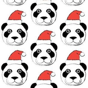 panda-faces-with-santa-hats