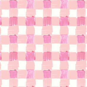 Peachy Pink Gingham