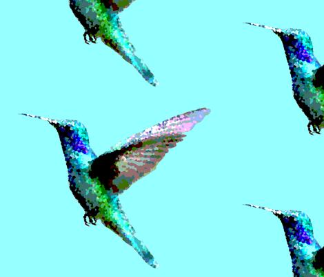 Humming Birds fabric by kitty_wizard on Spoonflower - custom fabric