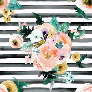 Natalia Floral stripe