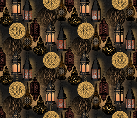 Marrakesh Nights fabric by j9design on Spoonflower - custom fabric