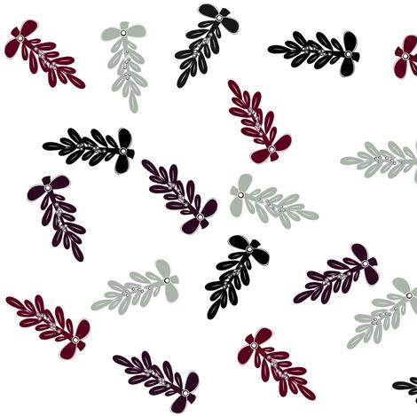 Mistletoe in Shades of Neutral fabric by sherry-savannah on Spoonflower - custom fabric