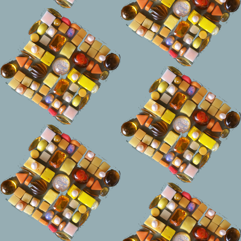 Yellow jewels du jour  fabric by pictor_imaginarius on Spoonflower - custom fabric