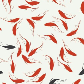 Traditional Chinese Calligraphy Koi Fish