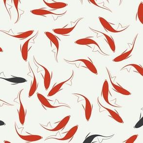Traditional Chinese Calligraphy Koi Fish