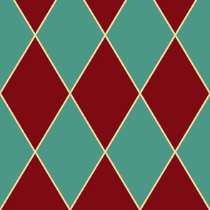 harlequin teal and burgundy