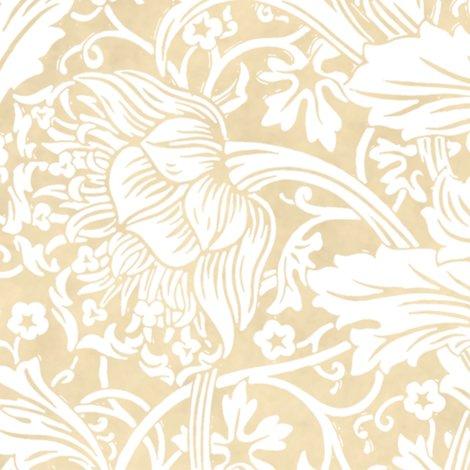 Rarcadia-white-on-parchment-william-morris-peacoquette-designs-copyright-2018_shop_preview