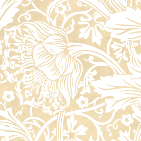 Arcadia ~ White on Parchment ~ William Morris   fabric by peacoquettedesigns on Spoonflower - custom fabric