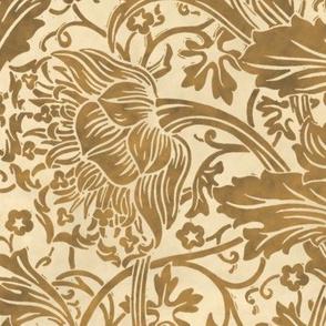 Arcadia ~  Faux Gilt  on Parchment ~ William Morris