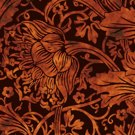 Arcadia ~ Tortoiseshell on Senart ~ William Morris  fabric by peacoquettedesigns on Spoonflower - custom fabric