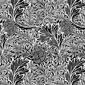 Apple ~ William Morris ~  Terry White on Black