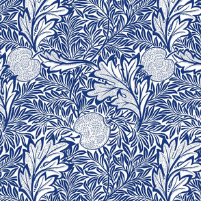 Apple ~ William Morris ~ Willow Ware Blue and White