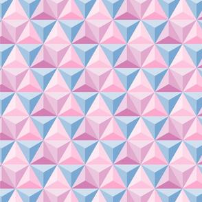 Hex Pastel pinks & blue (epcot)