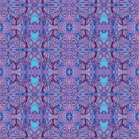 PlayfulHoundInTheBluesyCurls- fabric by cloudsong_art on Spoonflower - custom fabric
