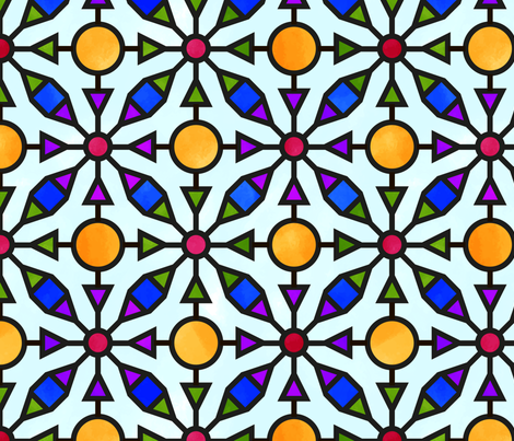 Marrakesh Taught Me Colour fabric by seesawboomerang on Spoonflower - custom fabric