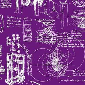 D Vinci's Sketchbook //  Purple // Large