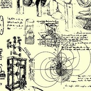 D Vinci's Sketchbook //  Yellow // Large