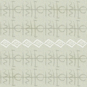 Bohemian glyph symbols tan cloth