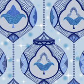 sparkling moroccan lamps - light blue