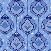 sparkling moroccan lamps - blue
