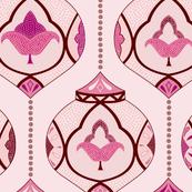 moroccan lamps - pink blush