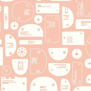 Needleplate Faces in Pink