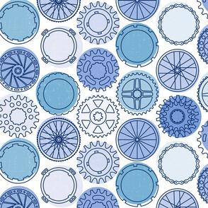 bike parts dots blue