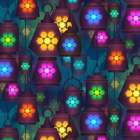 lantern in the bazaar fabric by stofftoy on Spoonflower - custom fabric