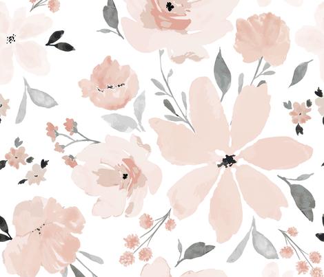 IBD Gracie Grace JUMBO fabric by indybloomdesign on Spoonflower - custom fabric
