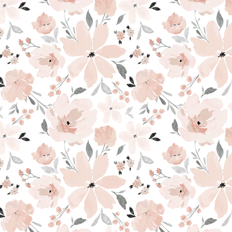 IBD Gracie Grace B fabric by indybloomdesign on Spoonflower - custom fabric