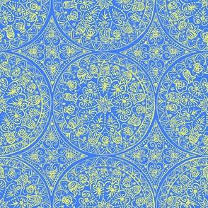 Cycling Mandalas (yellow-azure)