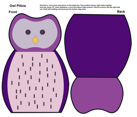 Owl Pillow fabric by uniquely_fabric on Spoonflower - custom fabric