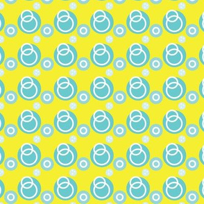 Blue Link Circles on Yellow