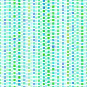 Mosaic Squares Green 600