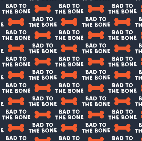 bad to the bone - red on blue w/ dog bone fabric by littlearrowdesign on Spoonflower - custom fabric