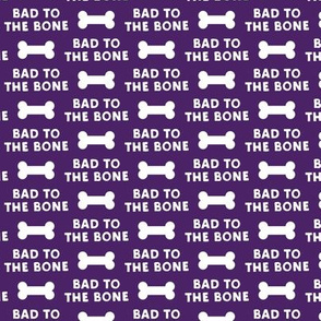 bad to the bone - purple w/dog bone