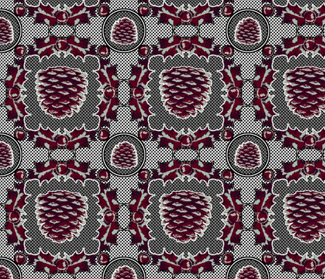 Victorian Holiday fabric by enid_a on Spoonflower - custom fabric