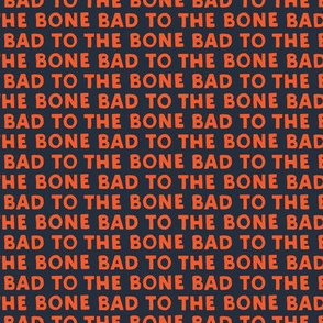 bad to the bone - red on blue