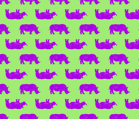 rhino revision 5 fabric by heretherebemonsters on Spoonflower - custom fabric