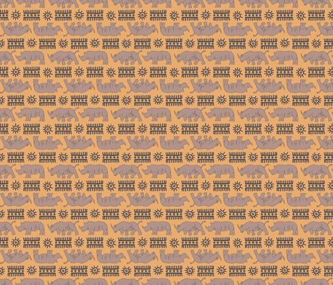 rhino revision 7 fabric by heretherebemonsters on Spoonflower - custom fabric