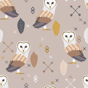 Barn Owls Tribal Feather