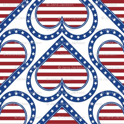 Patriotic Hearts & Stripes